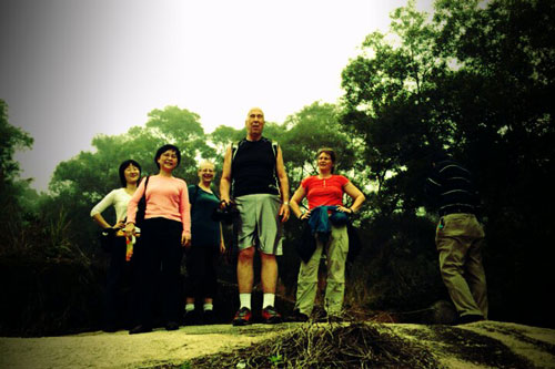 from left: Linjun, Meining, Myra, Peter, Claudia and Reny